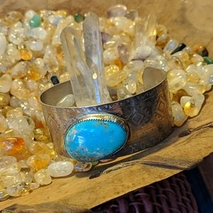 Lake Carico Turquoise Sterling Cuff Bracelet
